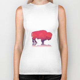 Geometric buffalo Biker Tank