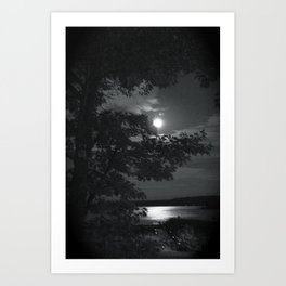 Blue Moon Canada Art Print