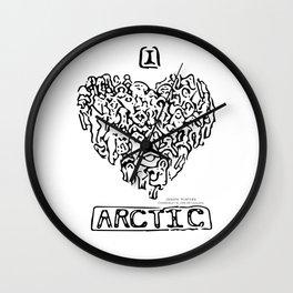 I Heart Arctic By Joseph Winters Wall Clock
