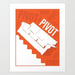 Pivot Friends Couch Art Art Print