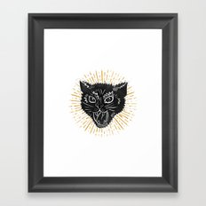 kitty attack Framed Art Print