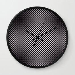 Black and Orchid Ice Polka Dots Wall Clock