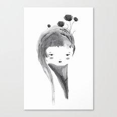 Dark Poppies Canvas Print