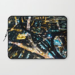 Aerial view of London illuminated at Night Laptop Sleeve