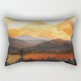 Desert in the Golden Sun Glow Rectangular Pillow