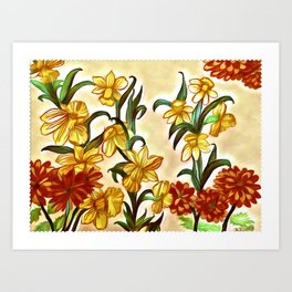 Announcement of Spring Time Art Print