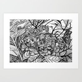 HORTENSIA WILDERNESS Art Print