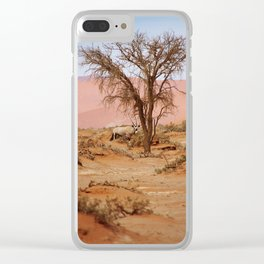 NAMIBIA ... Sossusvlei Oryx I Clear iPhone Case