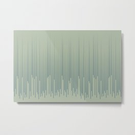 Blue-Green Frequency Line Art Pattern 2021 Color of the Year Aegean Teal and Salisbury Green Metal Print