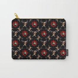Nautical Pirate Skulls And Swords Carry-All Pouch