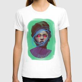 Beautiful Angie, POP art style, digitally painted T-shirt