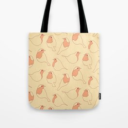 Robin's Egg in Yellow Tote Bag
