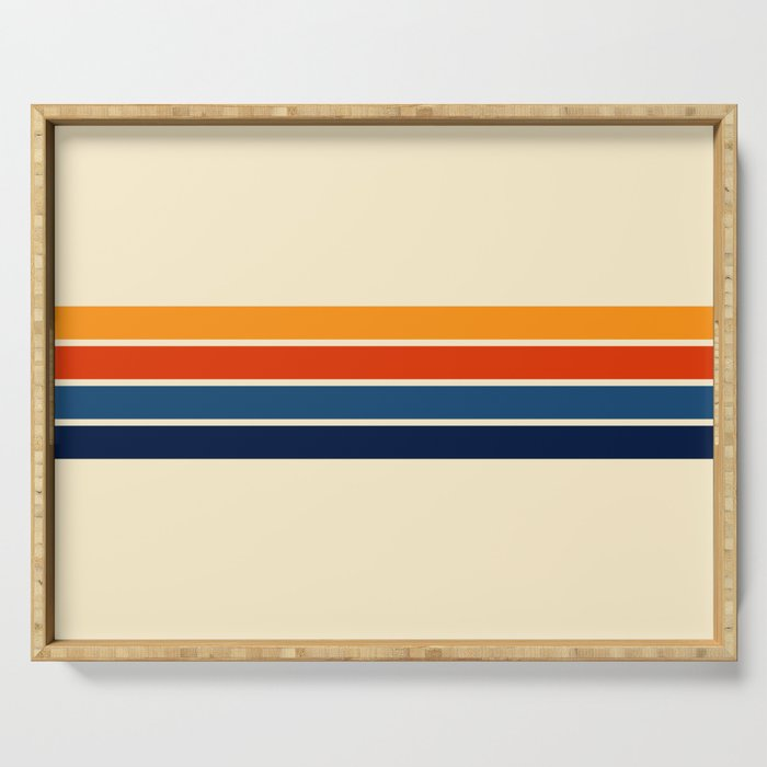 Classic Retro Stripes Serving Tray