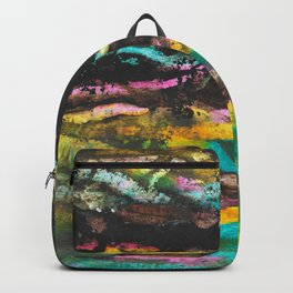 A River Runs Through Abstract Painting Backpack