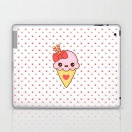 Kawaii Strawberry Ice Cream Cone Laptop & iPad Skin