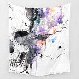 Smokin' Skull Wall Tapestry