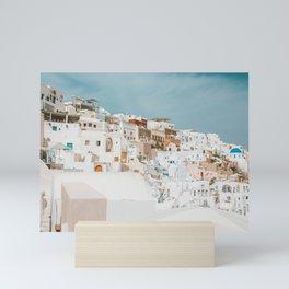 Santorini Views Mini Art Print
