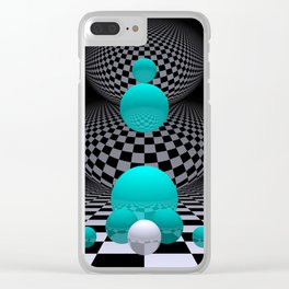go turquoise -8- Clear iPhone Case