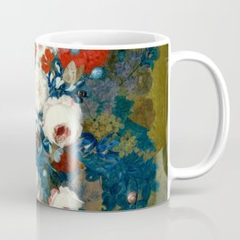 "Jan van Os  ""Flower still life with a bird's nest on a ledge"" Coffee Mug"