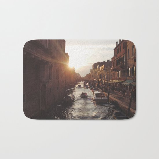 BOAT - STREETS - RIVER - TOWN - LIFE - CULTURE - PHOTOGRAPHY Bath Mat