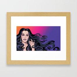 Cher's Hair Framed Art Print
