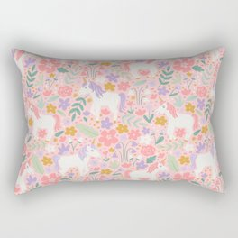 Unicorn Garden Rectangular Pillow