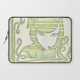 Eqyptian Style Girl Green Laptop Sleeve
