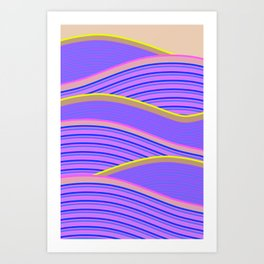 Happy Times - Lavender Hills Art Print