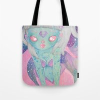 loll3 Tote Bags featuring Mermaid by lOll3