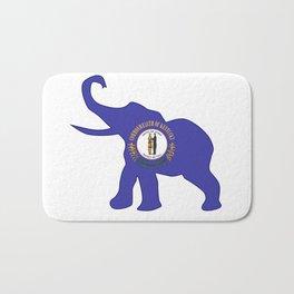 Kentucky Republican Elephant Flag Bath Mat