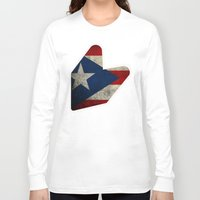 puerto rico Long Sleeve T-shirts featuring JDM puerto rico FLAG by designbook