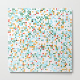 handmade coloured squares Metal Print