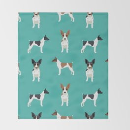 Rat Terrier dog breed pet art dog pattern gifts unique pure breed Throw Blanket
