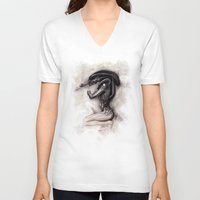 xenomorph V-neck T-shirts featuring ALIEN - Xenomorph by Denda Reloaded