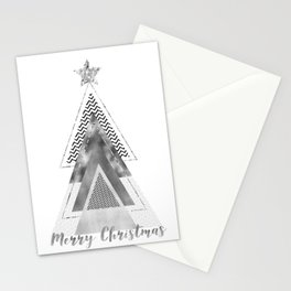 GRAPHIC ART Merry Christmas | silver Stationery Cards