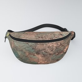 Marble Emerald Copper Blue Green Fanny Pack
