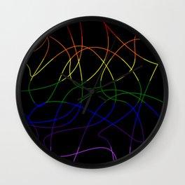 Abstract Threads – LGBTQ Pride Flag Wall Clock