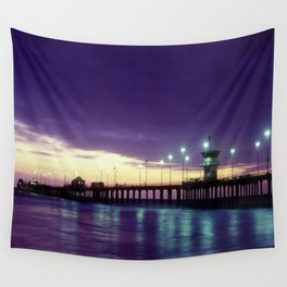 H.B. Pier Sunset 1983 Wall Tapestry