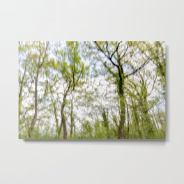Watercolor trees photography Metal Print