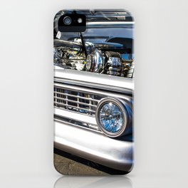 Vintage lowered, slammed classic Chev Show Truck iPhone Case