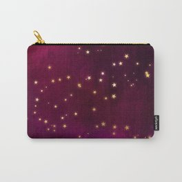 Plum Gold Stars Carry-All Pouch