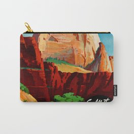 Zion National Park Vintage Poster Carry-All Pouch