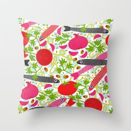 PASTA CON MOLLICA DI PANE Pattern Throw Pillow