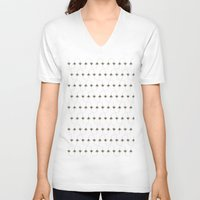 bees V-neck T-shirts featuring BEES, BEES everywhere by Roxanne Bee