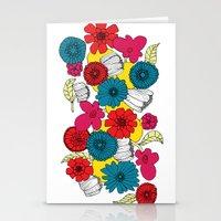 scandinavian Stationery Cards featuring Scandinavian Flowers by Meredith Art/Design