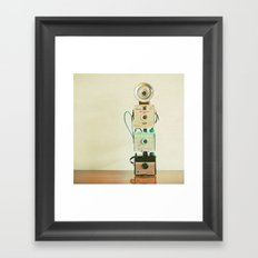 Tower of Cameras Framed Art Print