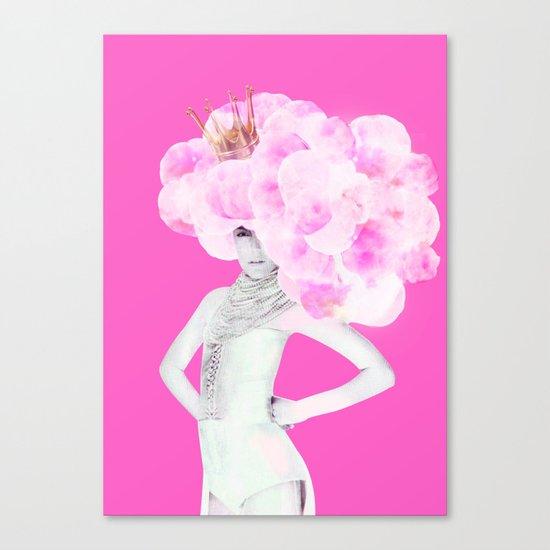 Cotton Candy Queen Canvas Print