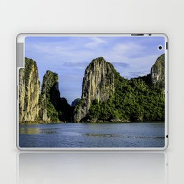 Beautiful Limestone Cliffs Covered in Green Trees and Bushes Rising up from Halong Bay, Vietnam Laptop & iPad Skin