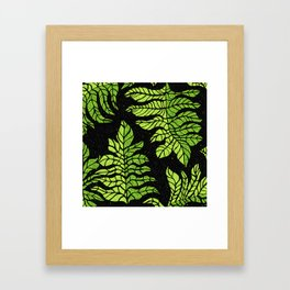 Graphic leaves Framed Art Print