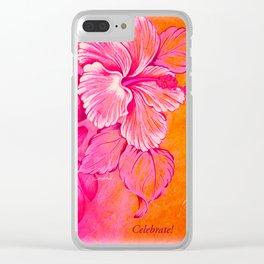 Celebrate Clear iPhone Case
